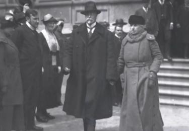TGM s manželkou Charlottou. Foto Facebook Národního muzea, repro video