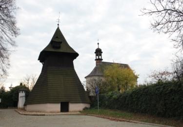 Dřevěná zvonice v Semíně