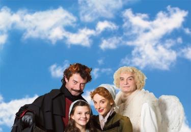 Vica Kerekes se svou filmovou dcerou, čertem a andělem v Andělu Páně 2