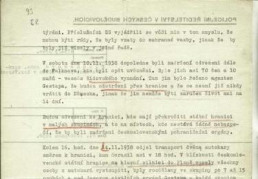 Křišťálová noc na Karlovarsku: FISCHEROVÁ ANNA - ZPRÁVA O KŘIŠŤÁLOVÉ NOCI V KARLOVÝCH VARECH, Národní archiv v Praze
