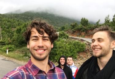 S kamarádem v Albánii, foto Facebook