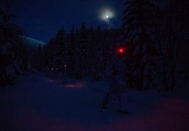 Noční přesun, foto nadrotmistr Pavel Vystrčil