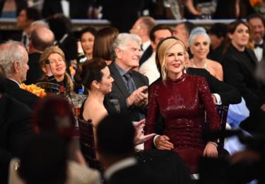 Olivia Colman, Nicole Kidman a Lady Gaga, foto Golden Globes