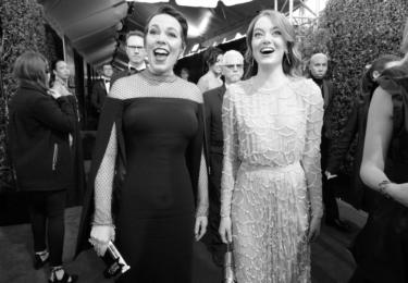 Olivia Colman a Emma Stone, foto Golden Globe