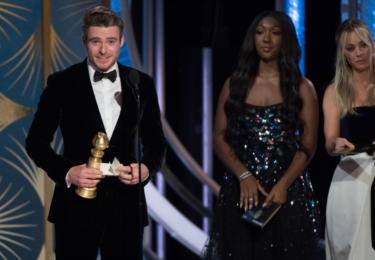 Richard Madden, nejlepší herec televizního seriálu Bodyguard, foto Golden Globe