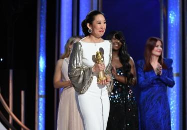 Sandra Oh, nejlepší seriálová herečka, foto Golden Globes