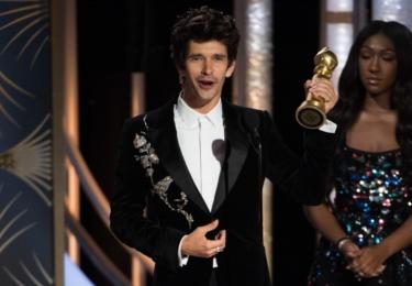 Ben Whishaw, vítěz  - herec ve vedlejší roli, foto Golden Globe