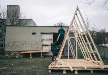 Studenti ČVUT stavějí útulny pro Krkonošský národní park, foto ČVUT