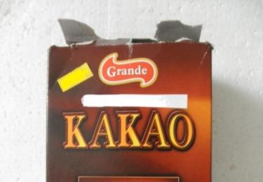 100% kakao, kde bylo 80 % kakaa a 20 % drcených kakaových skořápek, foto MZČR