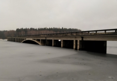 Zatopené mosty u Hulic