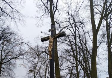 Kříž v parku
