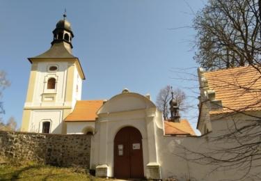 Kostel s barokní kapličkou