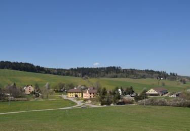 Výhledy do krajiny z osady Skláře