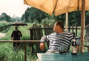 František Řehák s Rudolfem Hrušínským, foto repro z filmu