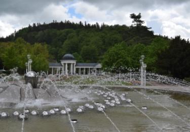 Zpívající fontána ve dne