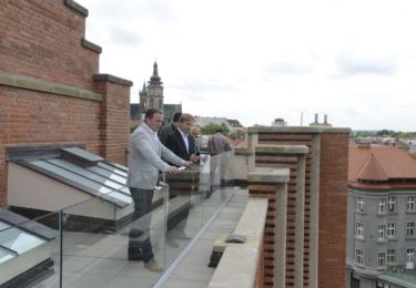 Rekonstrukce budovy Muzea východních Čech se opravdu vyvedla. Na snímku střešní vyhlídka. Foto Facebook
