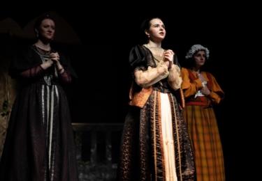 Fotografie z představení muzikálu Modrá krev, zdroj HuDiLaS