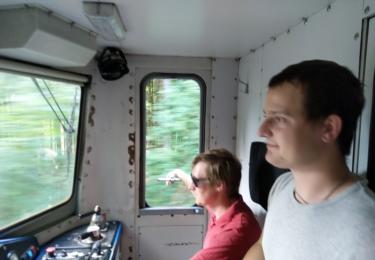 Poděkování osádce vlaku JHMD za možnost projet se v lokomotivě