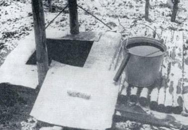 Skutečná studna z vyšetřovacího spisu, foto Muzeum policie