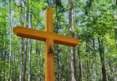 Kříž v lese