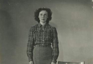 Květa Fialová před studiem na JAMU, foto archiv herečky