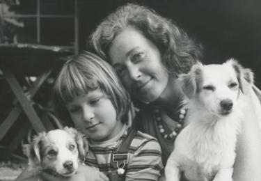 S dcerou Zuzankou a pejsky, foto archiv herečky