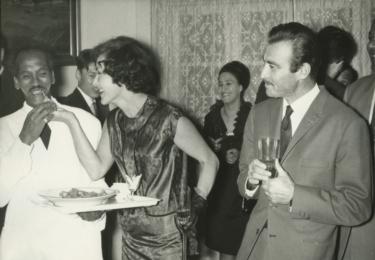 Na filmovém festivalu v Egyptě v roce 1955, po jejím boku Omar Scharif, foto archiv herečky