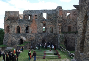 Hrad Krakovec, kde se film natáčel