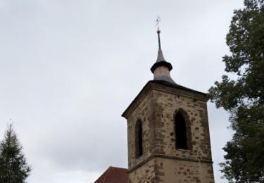 Zvonice s kostelem v Přistoupimi