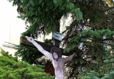 Kritus ke kříži přitlučený