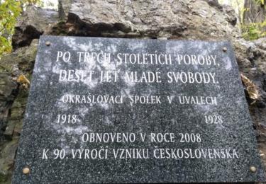 Pamětní deska ke vzniku Československa