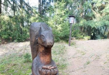 Socha v Klokočském lese