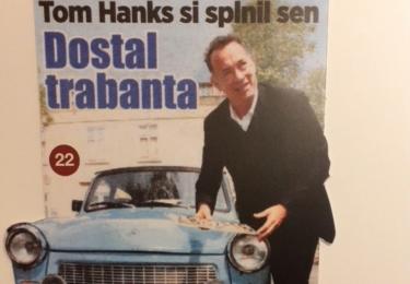 Hollywoodská hvězda získala automobil snů, Trabanta!