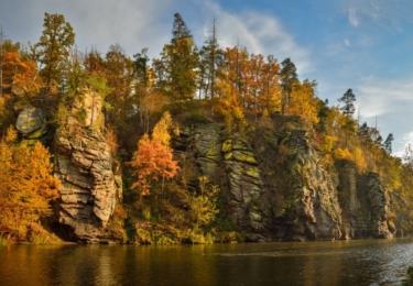Řeka Lužnice u Bechyně, foto Petr Mareš