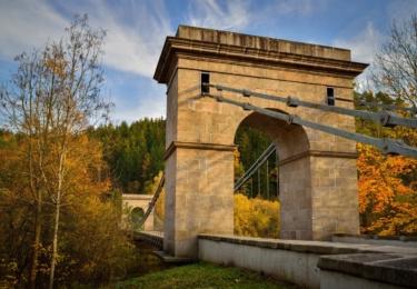 Stádlecký řetězový most, foto Petr Mareš