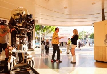 Matáčení Tenkrát v Hollywoodu, foto Sony Pictures Entertainment