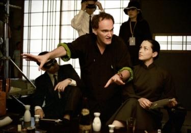Tarantino při natáčení Kill Billa, foto Miramax