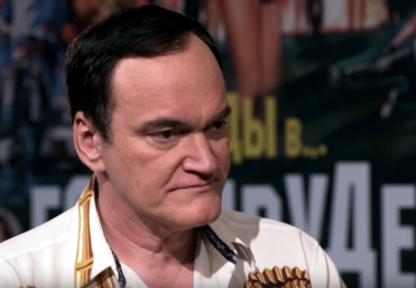 Quentin Tarantino v ruské televizi, foto Youtube repro