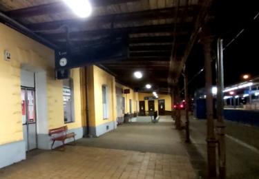 Nádraží v Táboře, kde se Švejk dohadoval o placení pokuty
