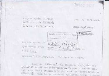Zábrodský tvrdil, na svou čest a svědomí, že na něj StB nic neměla, proto ani nebyl v souvislosti se zatčením spoluhráčů vyslýchán; ve skutečnosti jeho informace vydaly na šest stránek výpovědi.