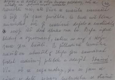 Večer před popravou byla příbuzným Milady Horákové povolena jediná a poslední návštěva během jejího devítiměsíčního věznění. Rukopis Jany Kánské zachycuje vzpomínku na rozloučení s matkou. Dozorce jim ani nedovolil, aby se objali