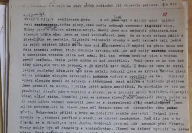 Tuto jednu stránku ze zápisků Bohuslava Horáka poskytl KL na ukázku Daniel Anýž