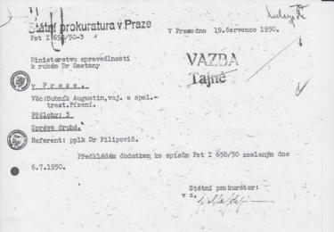 Kdo svým rozhodnutím doplnil tajnou korespondenci mezi Státní prokuraturou a Ministerstvem spravedlnosti? Václav Kopecký?