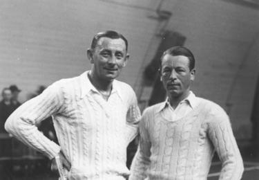 Maleček byl častým deblovým partnerem nadšeného sportovce Vlasty Buriana