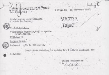 Vladimír Zábrodský byl pro celý proces utajenou osobou