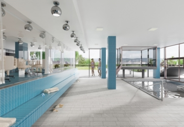 Vizualizace haly bazénu