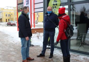 Architekt Miloslav Tempír (vpravo) a projektant Luděk Cekr při slavnostním otevření