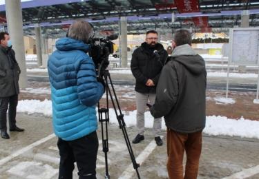 David Nosek, statutární ředitel PSN Dopravní stavby Brno během natáčení pro TV Morava