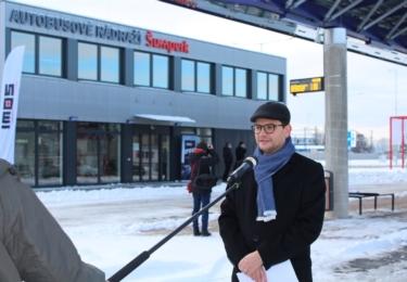 Místostarosta města Šumperk Jakub Jirgl během natáčení pro TV Morava