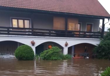 Povodeň, která se Dolní Poustevnou prohnala 17. července 2021